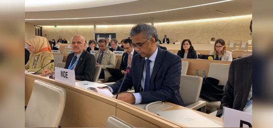 Ambassador Rajiv K. Chander, Permanent Representative of India speaking at the 34th Session of the Universal Periodic Review