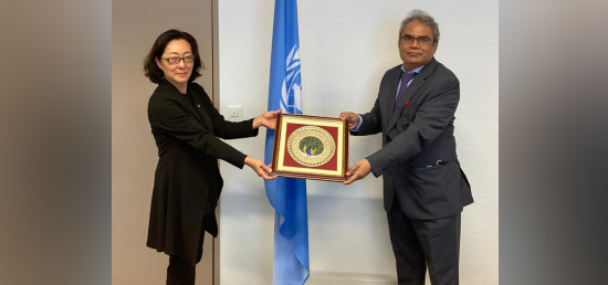 Ambassador Indra Mani Pandey met with Ms Mami Mizutori, Special Representative of the UN Secretary General for Disaster Risk Reduction (UNDRR). [14th October 2020, Geneva]