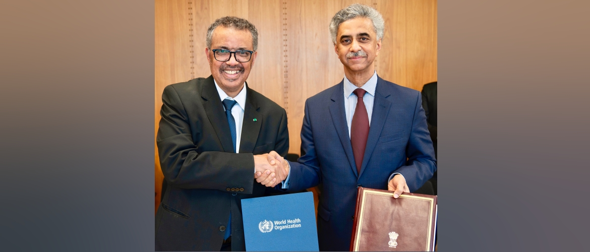 India and WHO sign an Agreement to develop the Indian Traditional Medicine module in ICD-11 <br /> (Geneva, 11 February 2020)