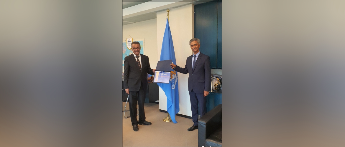 Farewell meeting of PR/Ambassador with DG, WHO Dr. Tedros Adhanom Ghebreyesus at WHO HQs (14 August 2020)