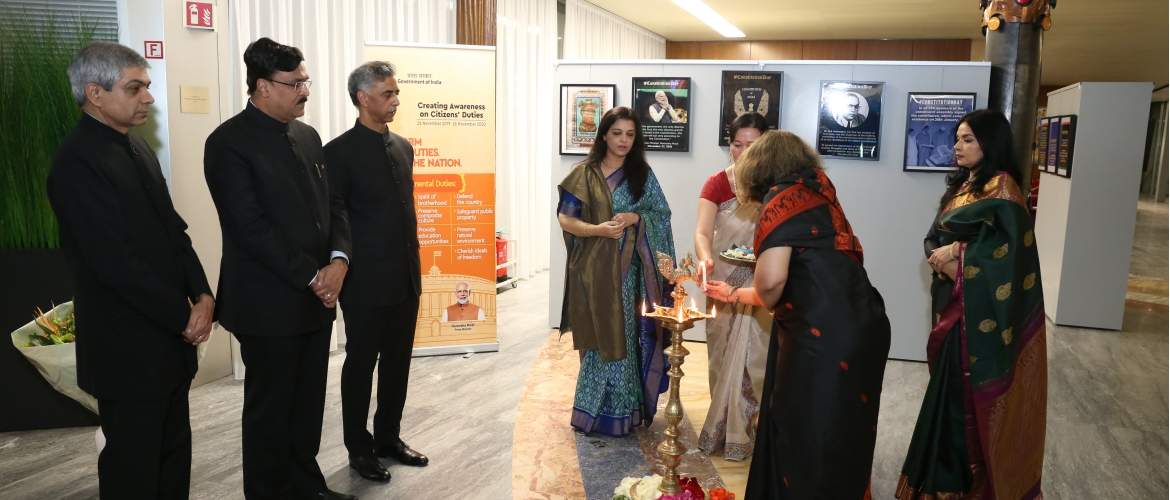 Inauguration of an exhibition on the 'Constitution of India' at the World Intellectual Property Organization (WIPO) on the sidelines of the National Day Celebration, 27 January 2020