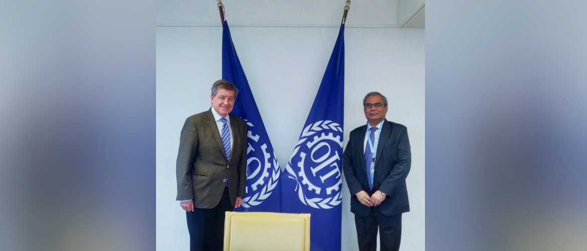 Ambassador Indra Mani Pandey calls on Mr Guy Ryder, Director General of the International Labour Organization(ILO).