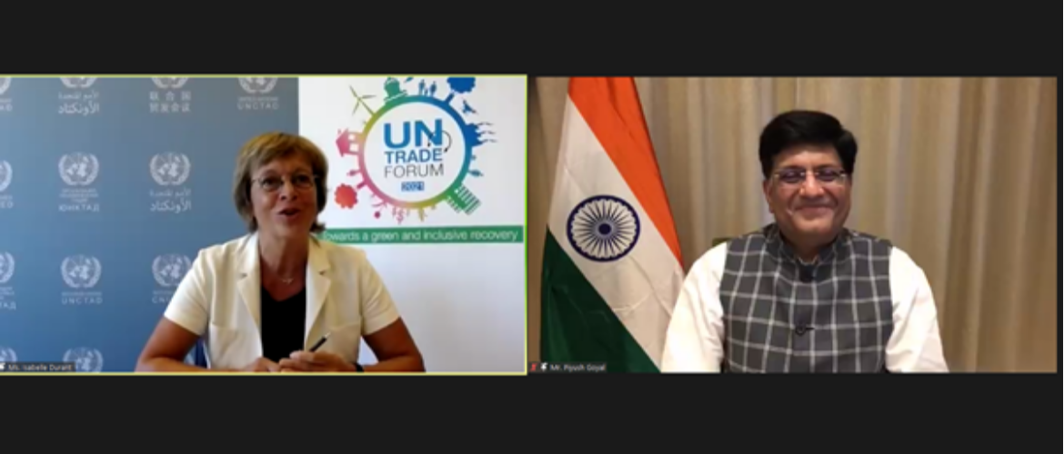 """""""Shri Piyush Goyal, Commerce and Industry Minister of India at the High-level Segment of the UN Trade Forum""""."""